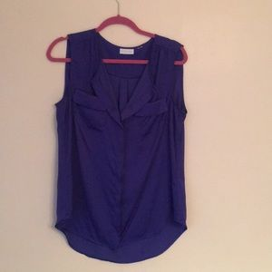 Blue Sleeveless Blouse by NY & Co.
